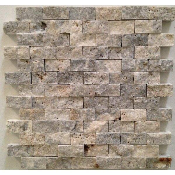 1 x 2 Travertine Splitface in Silver/Gray by Ephesus Stones