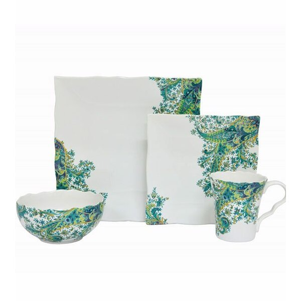 Surya 16 Piece Dinnerware Set, Service for 4 by 222 Fifth