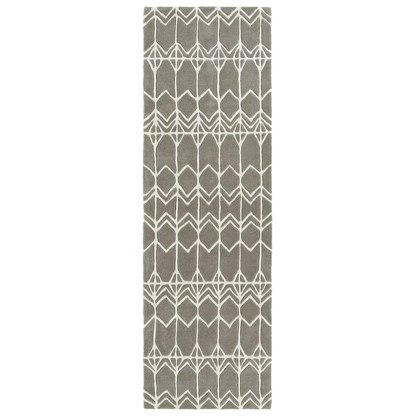 Ronnie Hand-Tufted Gray Area Rug by Wrought Studio