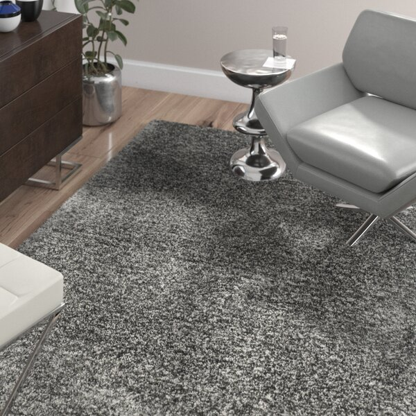 Oconnell Steel Gray Shag Area Rug by Wade Logan
