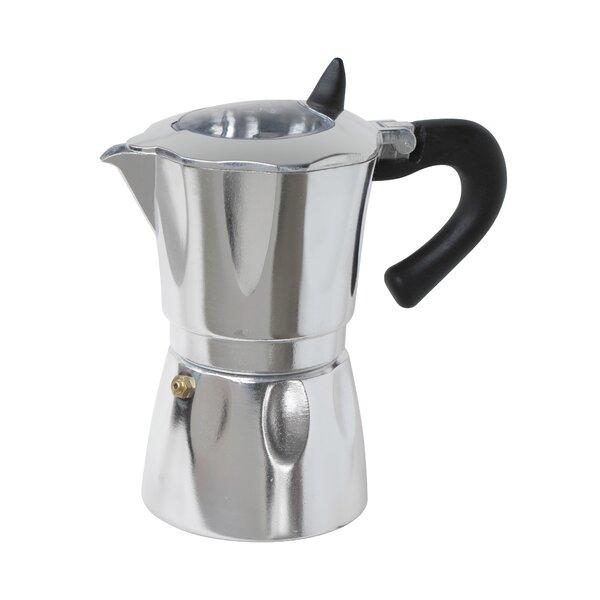 Aluminum Vista Espresso Coffeemakers with Window b