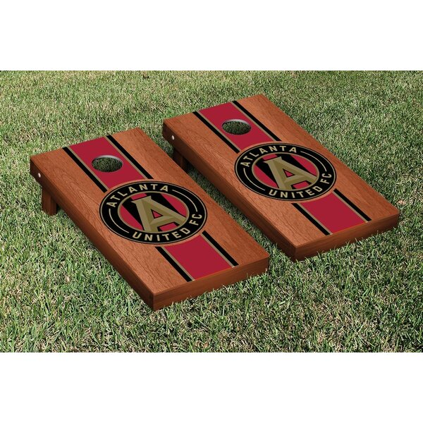 MLS Rosewood Stained Stripe Version Cornhole Game Set by Victory Tailgate