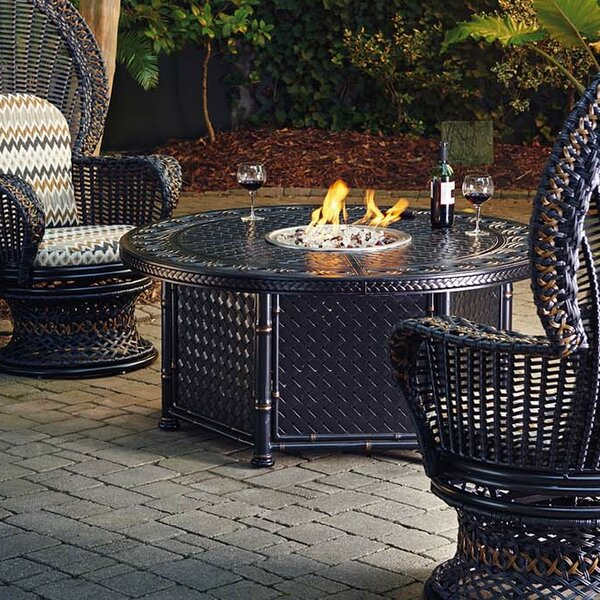 Marimba Wicker Propane Fire Pit Table by Tommy Bahama Outdoor