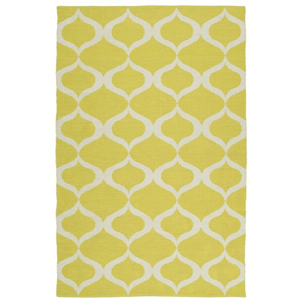 Dominic Yellow/Cream Indoor/Outdoor Area Rug by Ebern Designs