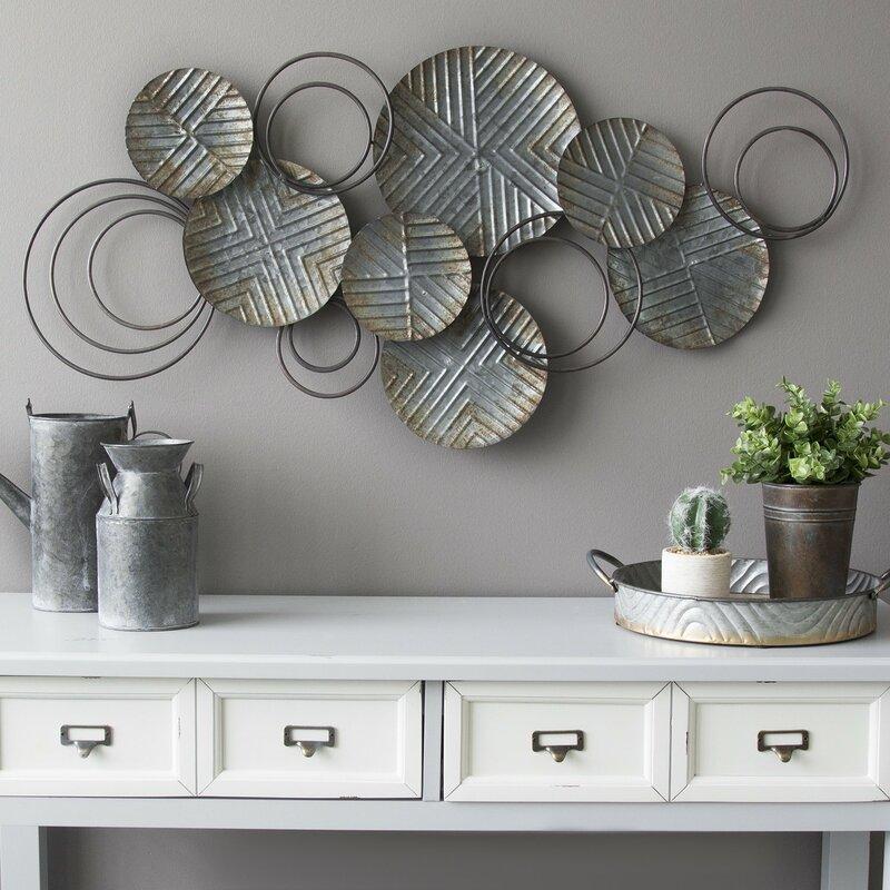Galvanized Plates Wall Décor
