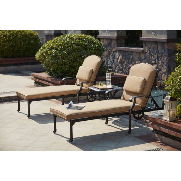 Waconia 3 Piece Chaise Lounge Set with Cushions by Darby Home Co