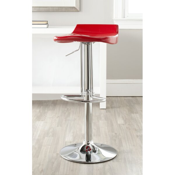 Rafaela Adjustable Height Swivel Bar Stool by Orren Ellis