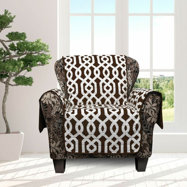 Islip Geometric Box Cushion Armchair Slipcover By Alcott Hill Sale