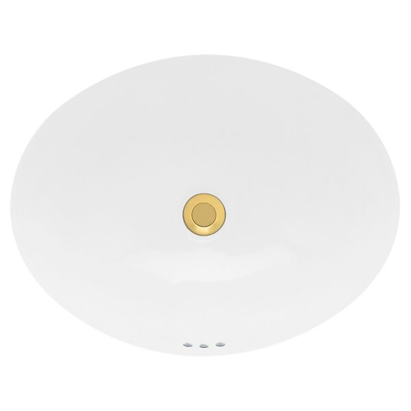 Ovalyn Ceramic Oval Undermount Bathroom Sink with