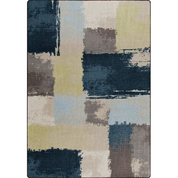 Mix and Mingle Lagoon Fair And Square Rug by Milliken