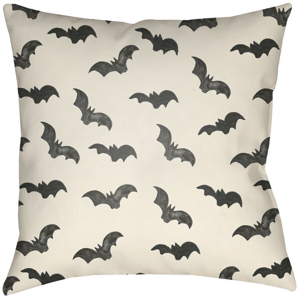 Dreher Bat Indoor/Outdoor Throw Pillow by The Holiday Aisle