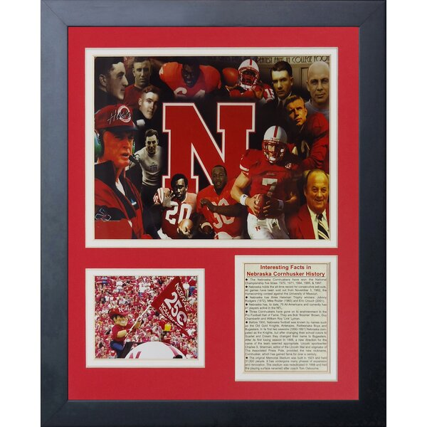 Nebraska Cornhuskers Greats Framed Memorabilia by Legends Never Die