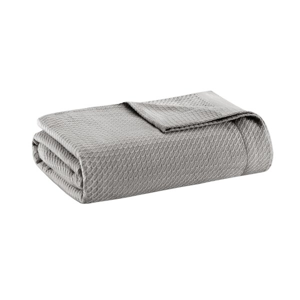 Adora Egyptian-Quality Cotton Solid Blanket by Eider & Ivory