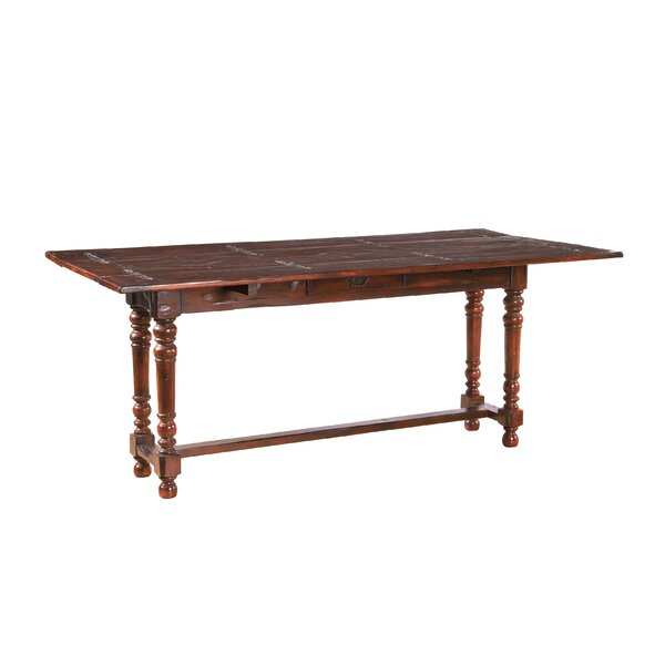 Anciaux Acacia Solid Wood Dining Table By World Menagerie