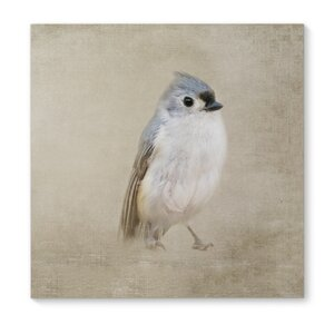 'One Little Bird' Painting Print on Wrapped Canvas by KAVKA DESIGNS