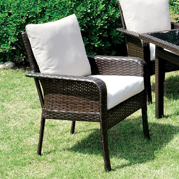 Mcleod Patio Dining Chair with Cushion by Gracie Oaks