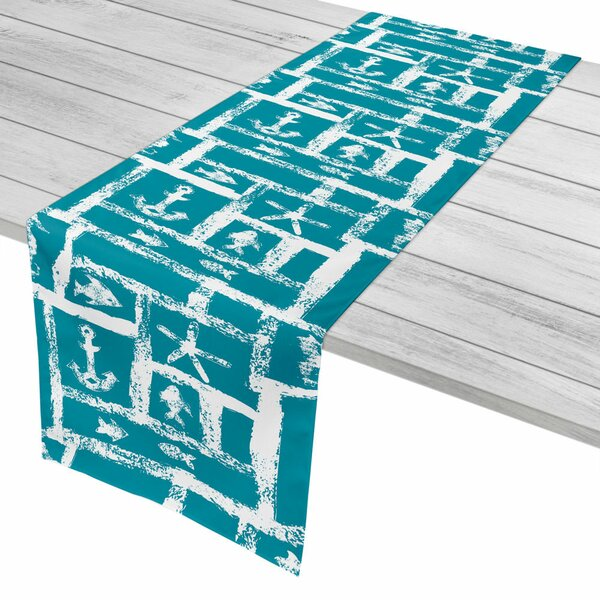 Coastal Ocean Squares Table Runner by Island Girl Home