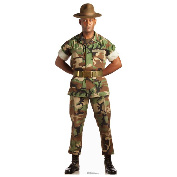 Camo Military Man Cardboard Cutout Stand-Up by Advanced Graphics