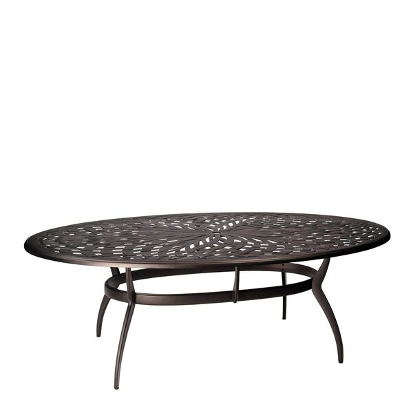Apollo Oval Umbrella Dining Table by Woodard