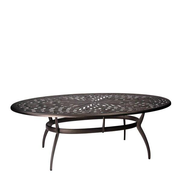 Apollo Oval Umbrella Dining Table by Woodard