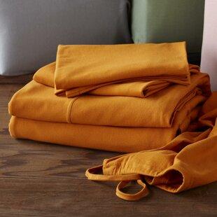 Comparison Jersey 3 Piece 100% Cotton Sheet Set By Coyuchi