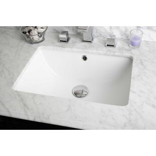 Find for American Imaginations Ceramic Rectangular Undermount Bathroom Sink with Overflow By American Imaginations