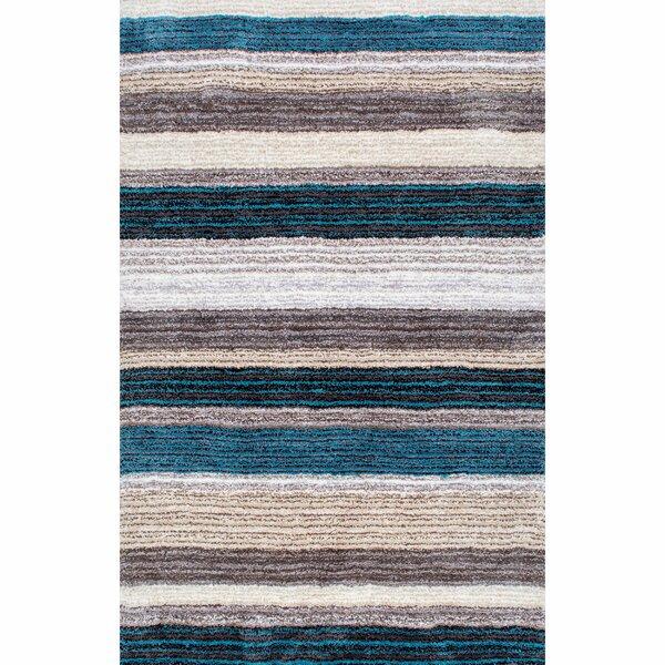 Weeden Hand Tufted Blue Brown Area Rug By George Oliver.