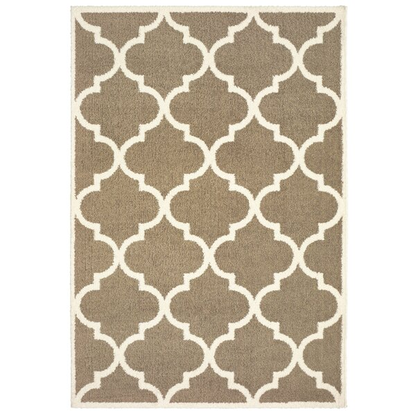 Priebe Lattice Taupe/Ivory Area Rug by One Allium Way