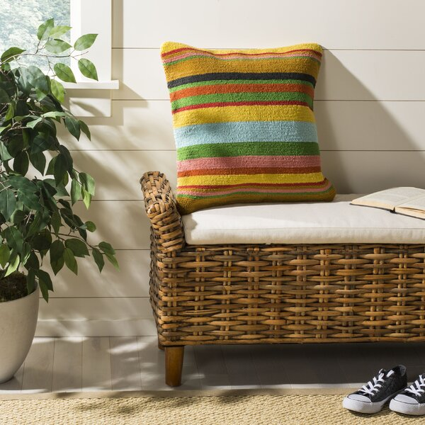 Holasice Striped Outdoor Throw Pillow by Bay Isle Home