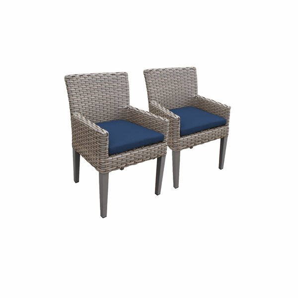 Oasis Patio Dining Chair with Cushion (Set of 2) by TK Classics