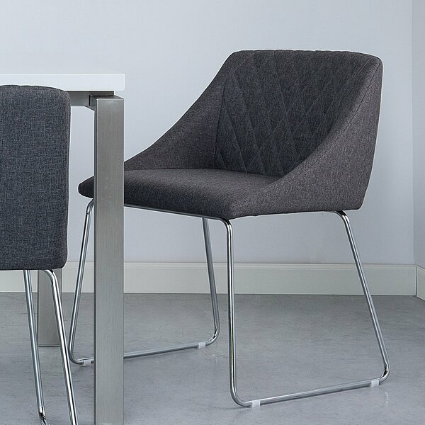 Maumelle Fabric Upholstered Dining Chair (Set of 2) by Wrought Studio