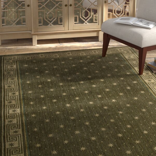 Dunnstown Hand-Woven Spruce Area Rug by Bloomsbury Market