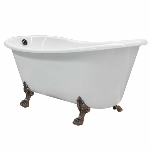 Doris Cast Iron Clawfoot 67 x 31 Freestanding Soaking Bathtub by Maykke