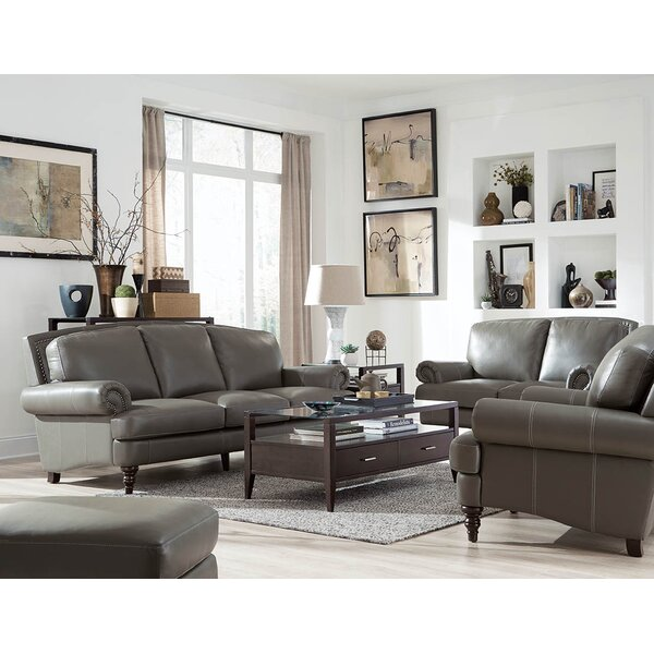 Ewing Leather Configurable Living Room Set by Red Barrel Studio