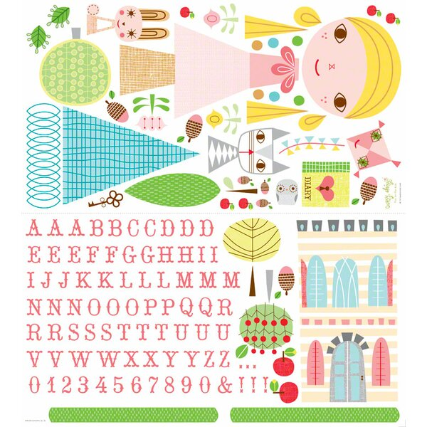 Paper Doll Goldi Peel and Place Wall Decal by Oopsy Daisy