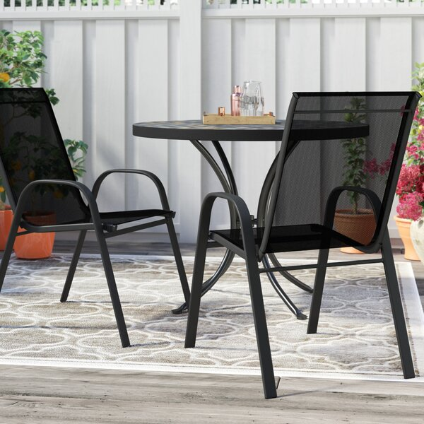 Kurz Stacking Patio Dining Chair By Charlton Home