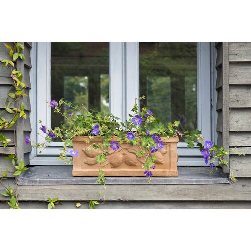 Zachariah Fibreglass Planter Box Brambly Cottage Size: 34 cm