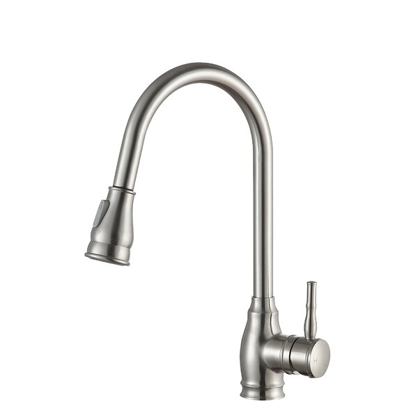 Bell Series Pull Out Single Handle Kitchen Faucet by ANZZI