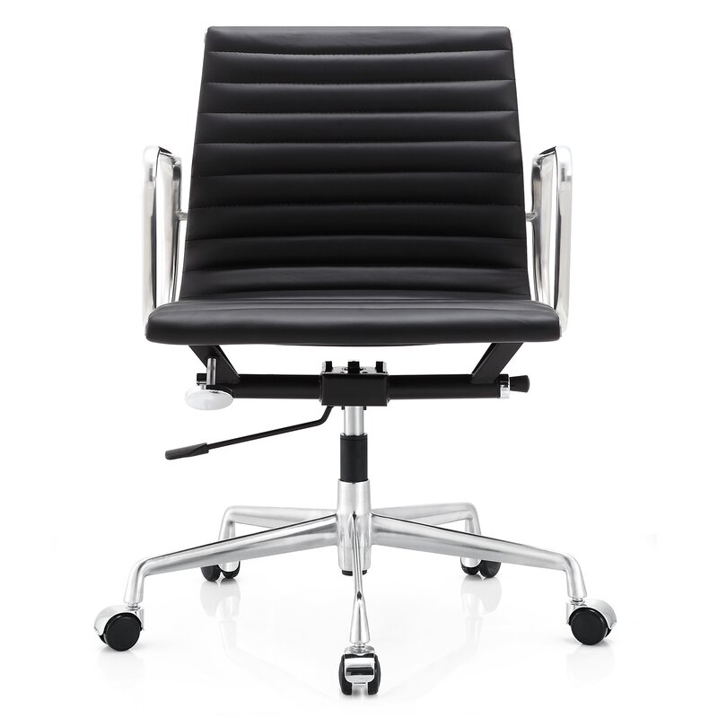 meelano leather desk chair & reviews | wayfair