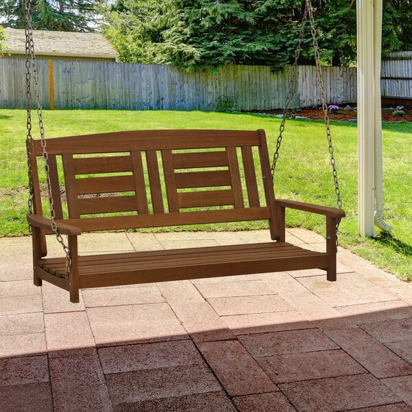 Arianna Hardwood Hanging Porch Swing by Langley Street Langley Street™