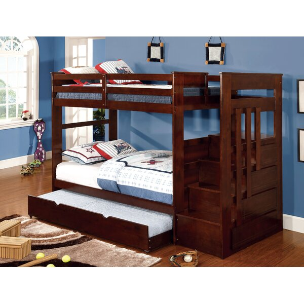 Hemdolt Monsiac Twin Over Twin Bunk Bed with Drawers by Hokku Designs