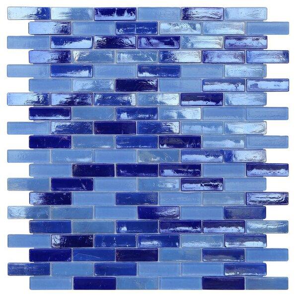 Opal 0.63 x 1.88 Glass Mosaic Tile in Odyssey by Kellani