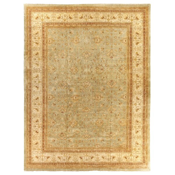 Ziegler Hand Knotted Wool Blue/Beige Area Rug by Exquisite Rugs