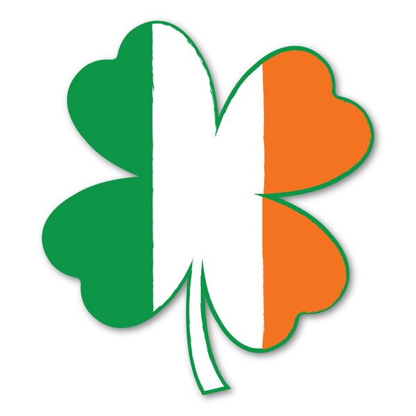 Flag Four Leaf Clover Magnet by The Holiday Aisle
