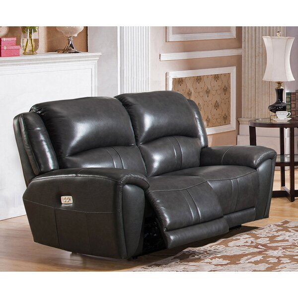 Online Shopping Top Rated Gutierez Leather Reclining Loveseat by Red Barrel Studio by Red Barrel Studio