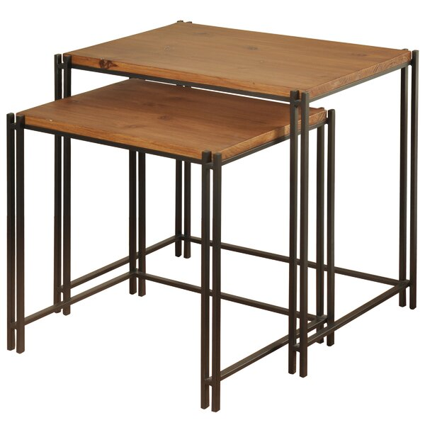 Klein 2 Piece End Table Set by Union Rustic