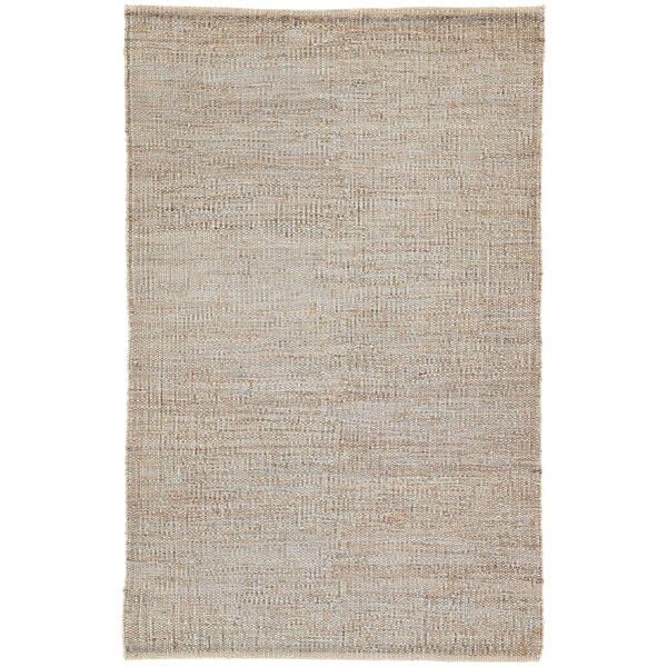 Prentiss Natural Solid Hand-Woven Tan Area Rug by Union Rustic