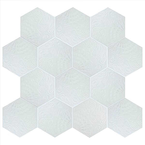 Soprano 8.63 x 9.88 Porcelain Field Tile in White by EliteTile