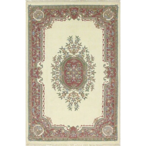 One-of-a-Kind Stubbeman Hand-Woven Wool Ivory Area Rug by Astoria Grand