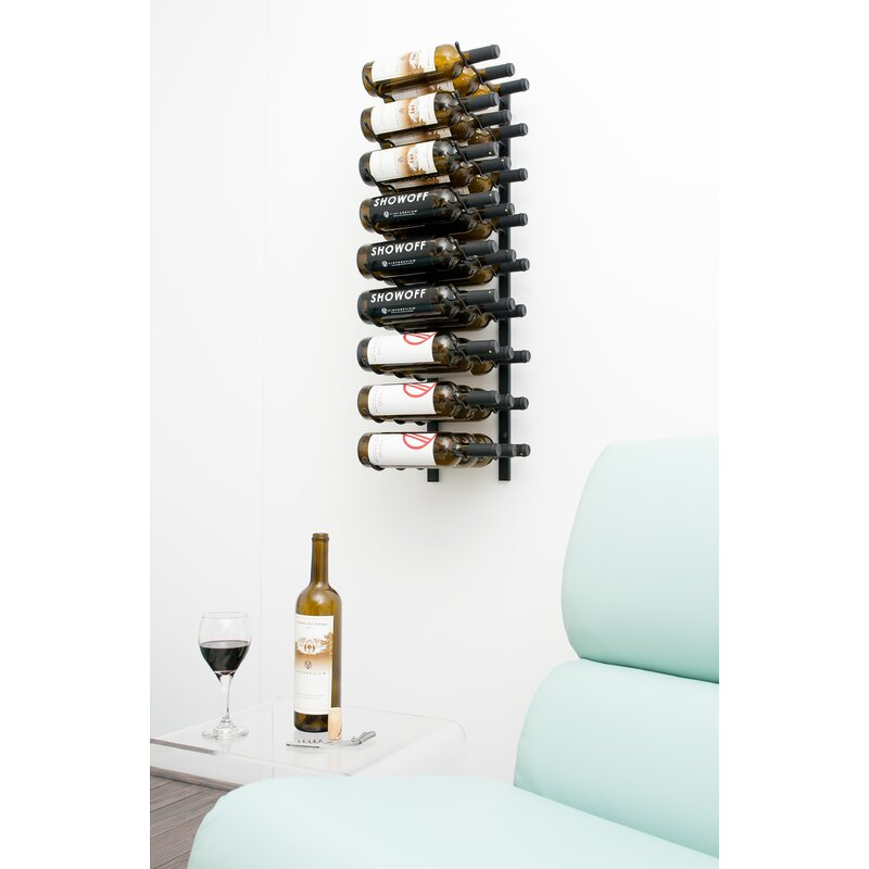 Vintageview 27 Bottle Metal Wall Mounted Wine Rack Reviews Wayfair